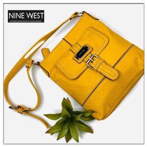 Nine West Mustard Yellow Vegan Cross Body Bag